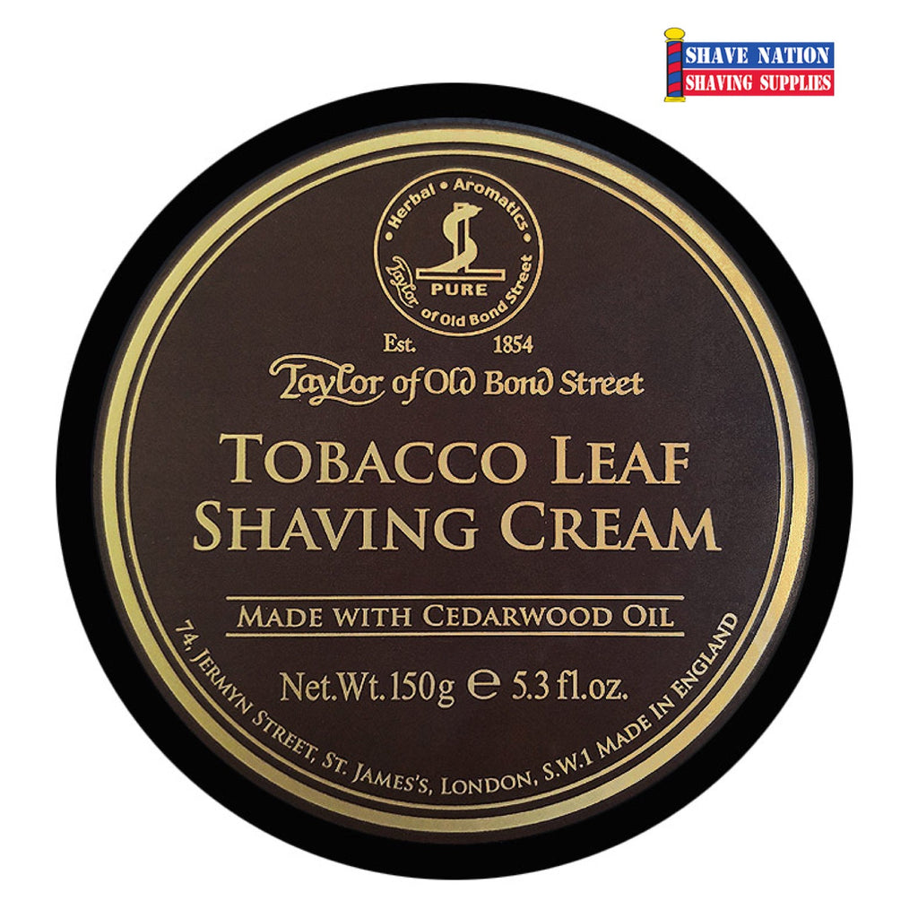 Taylor of Old Bond Street Tobacco Leaf Shaving Cream Jar