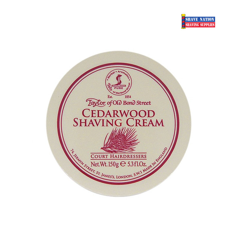 Taylor of Old Bond Street Cedarwood Shaving Cream Jar