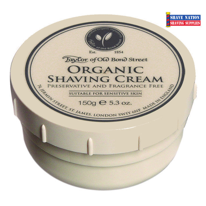 Taylor of Old Bond Street Organic Shaving Cream Jar
