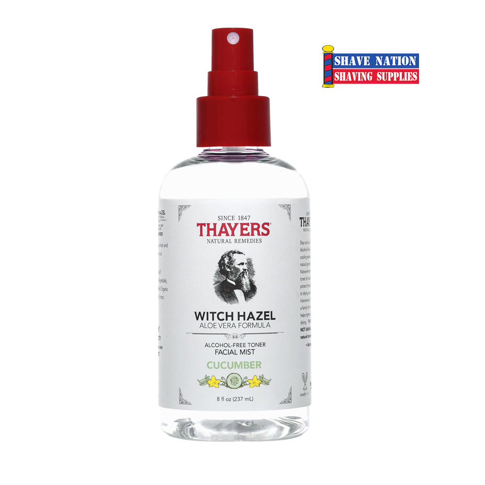 Thayers Alcohol Free Cucumber Witch Hazel Toner Facial Mist Spray