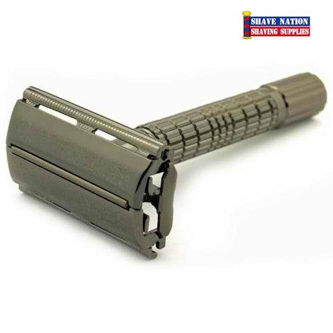 Timor Butterfly Safety Razor Anthracite-Gun Metal