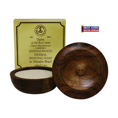 Taylor of Old Bond Street Shaving Soap in Wood Bowl Sandalwood