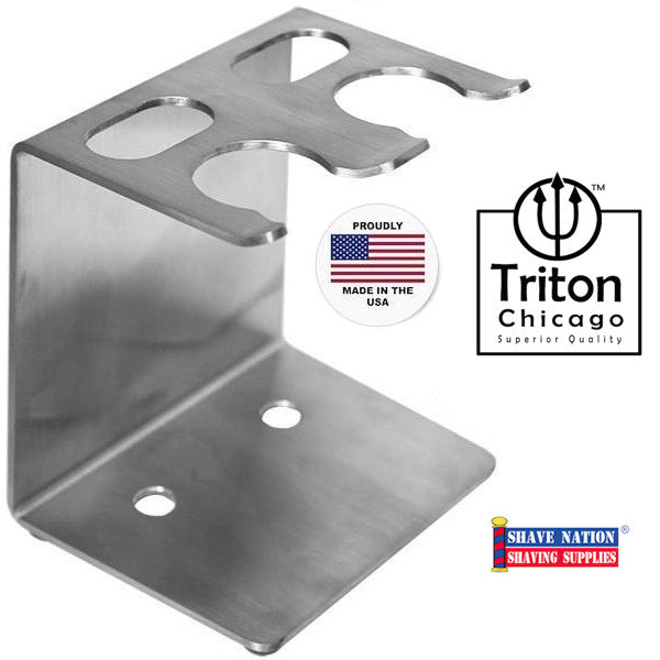 Triton Chicago Dual Razor & Brush Stand