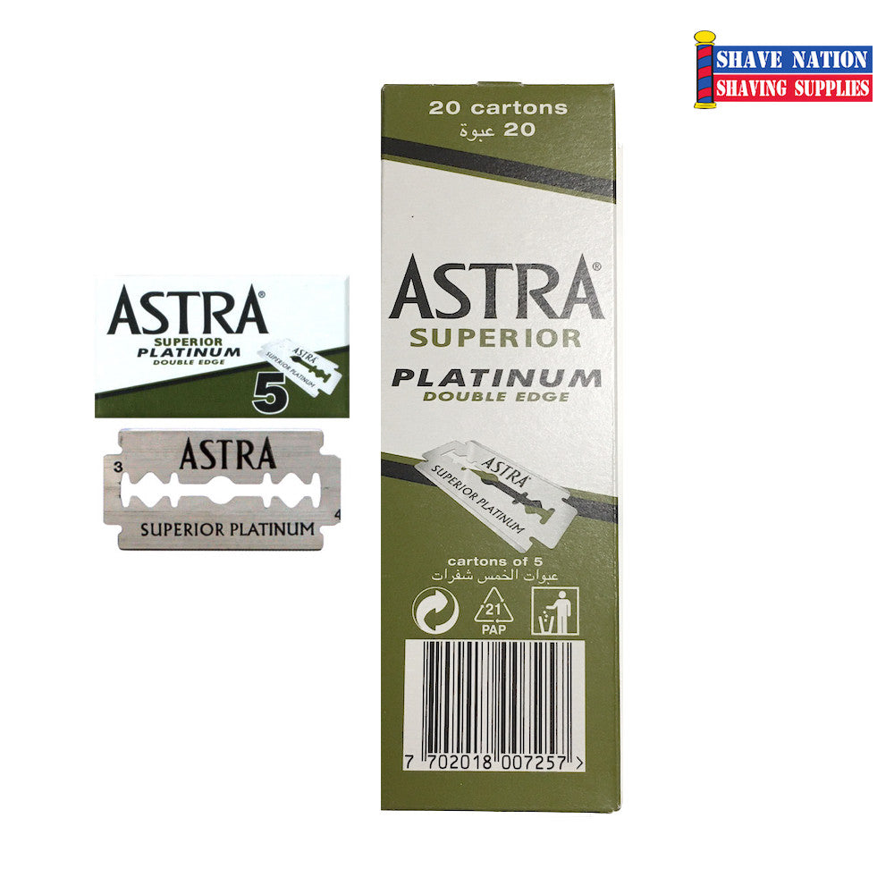 Astra Platinum DE Blades 100ct (Green)