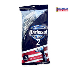 Barbasol Classic 2 Blade Cartridge Razor-5 Pack