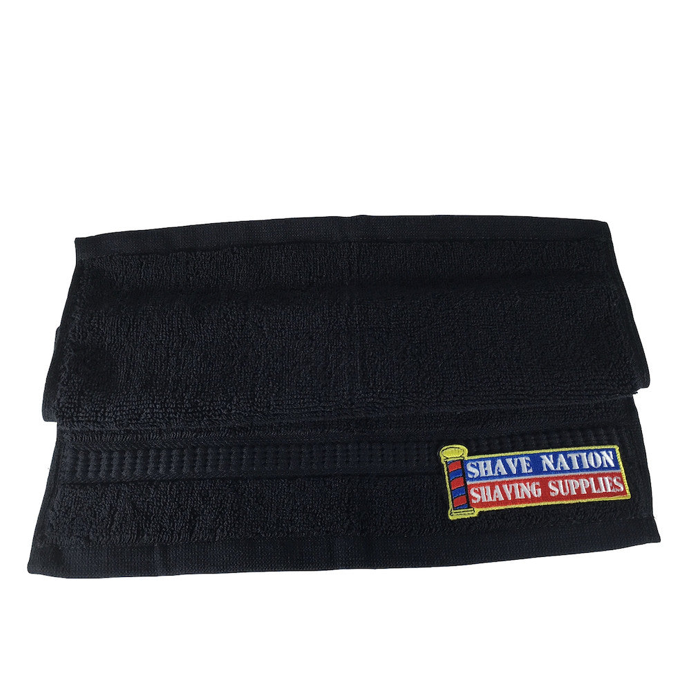 Black Shave Nation Face Cloth with Logo