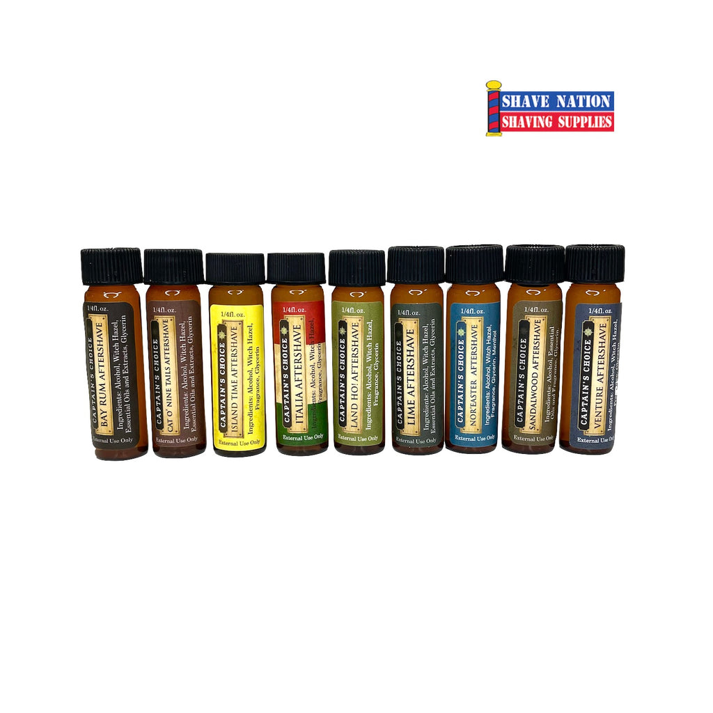 Captain's Choice Aftershave Splash Sampler-7 Scents