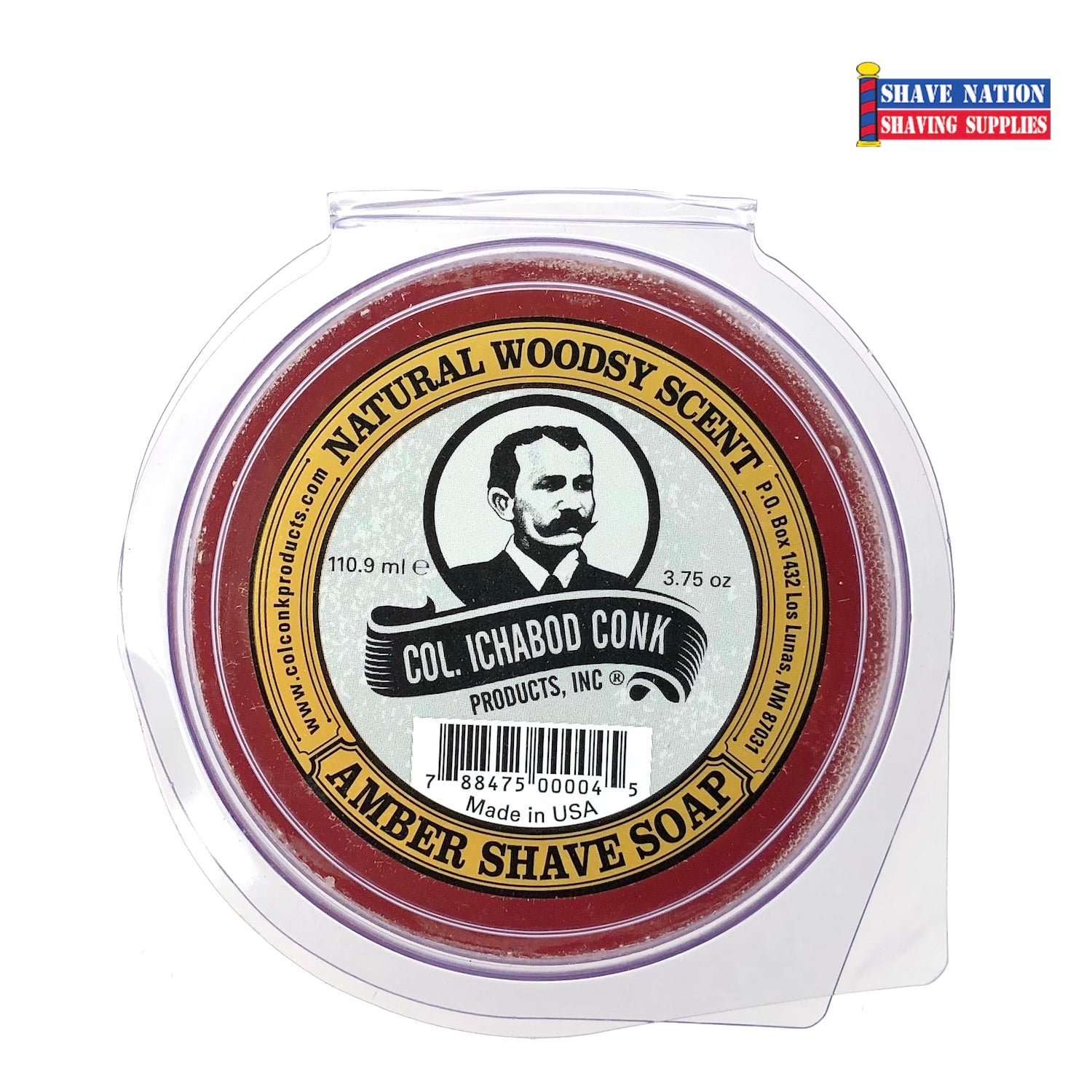 Colonel Conk Shaving Soap Amber Large