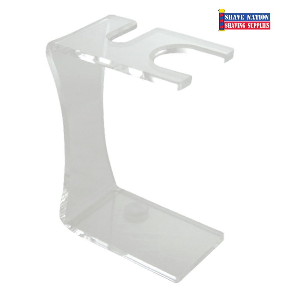 Colonel Conk Razor & Brush Stand-Clear Acrylic