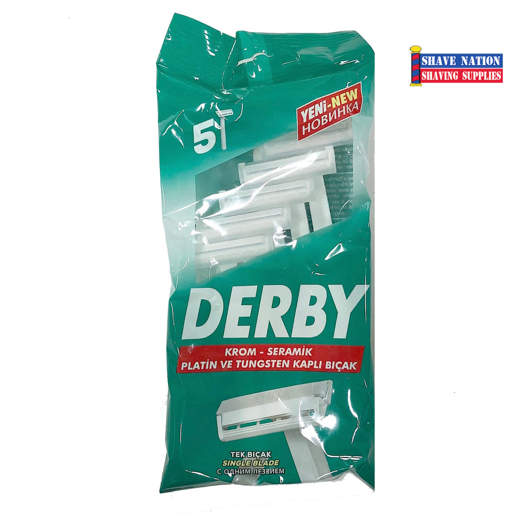 Derby Single Edge Disposable Safety Razor 5-Pack