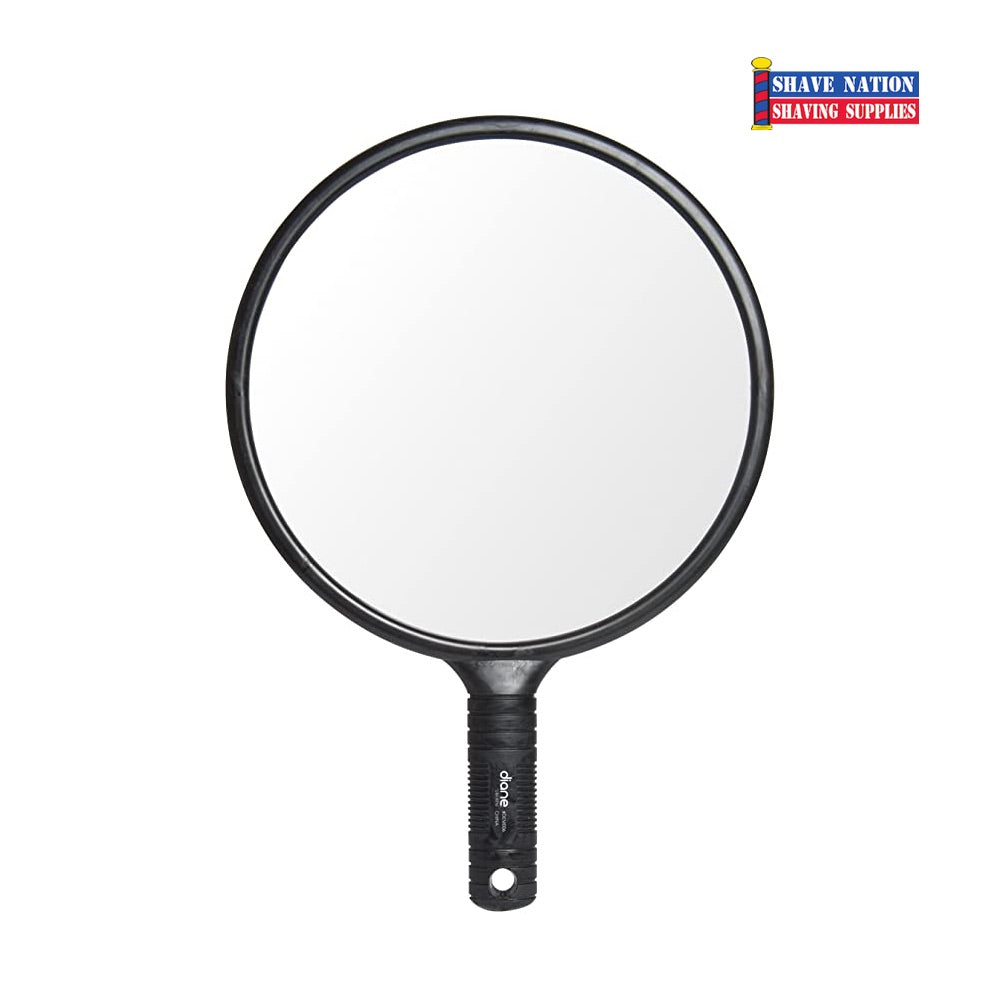 Diane Round Mirror Large-Black