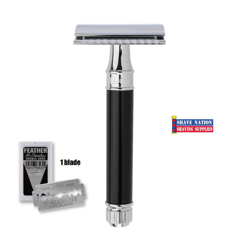 Edwin Jagger Closed Comb DE86BL Imitation Ebony Safety Razor