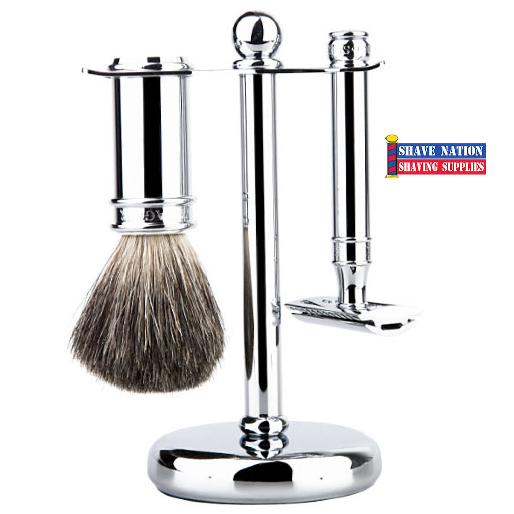 Edwin Jagger DE89 Chrome Safety Razor Set