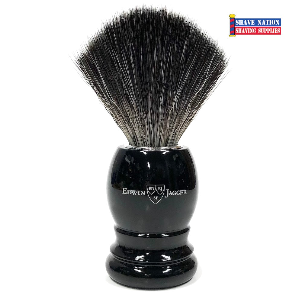 Edwin Jagger Ebony Handle Black Synthetic Fibre Brush