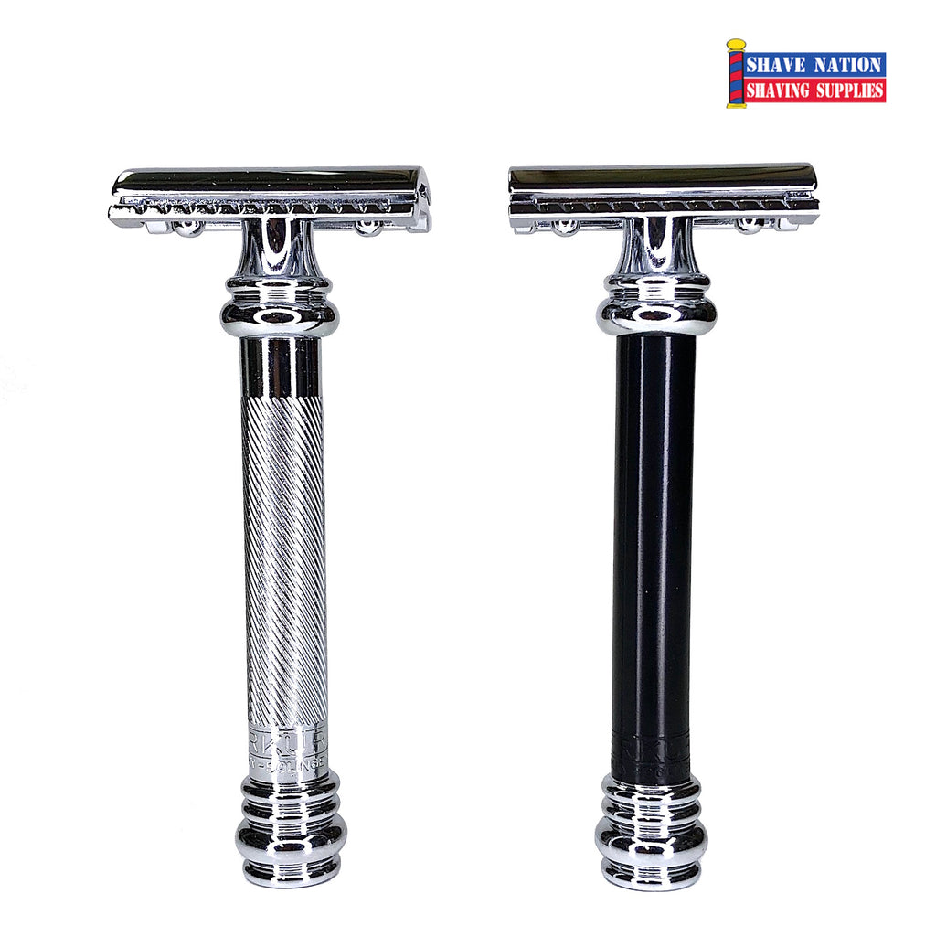 Merkur 38C Safety Razor Flat Bar Chrome or Black