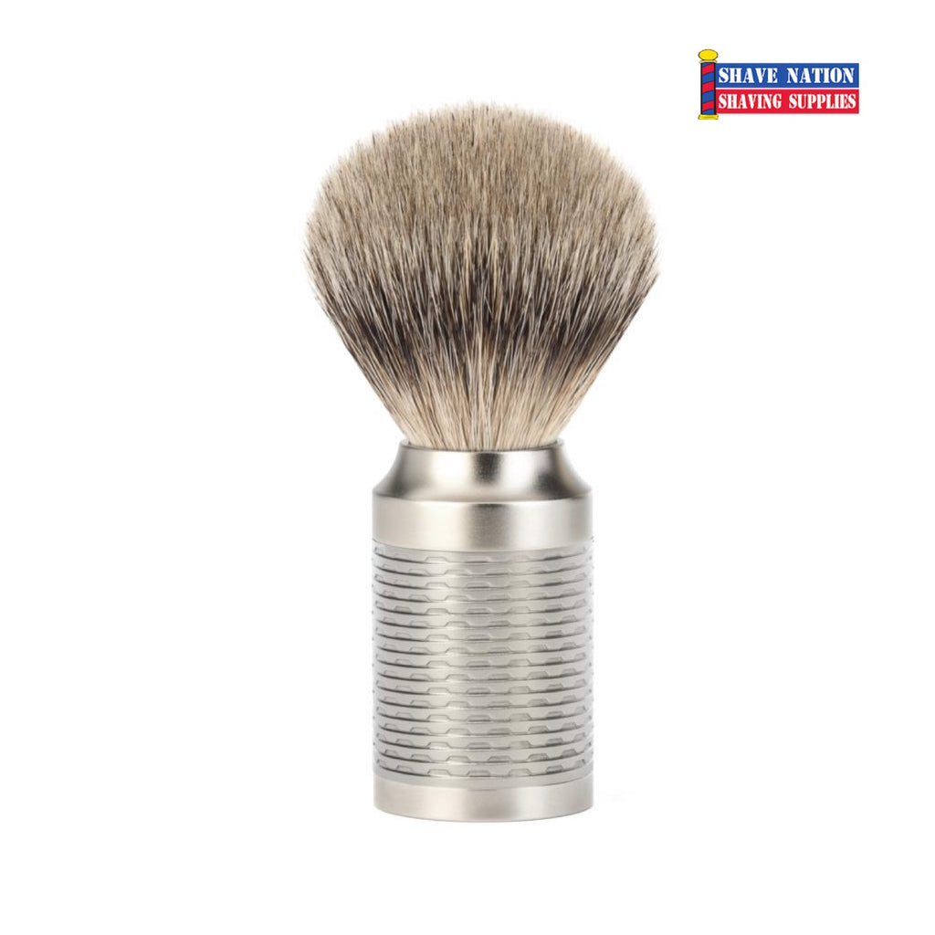 Muhle Rocca Silvertip Badger Shaving Brush Matte Satin Handle