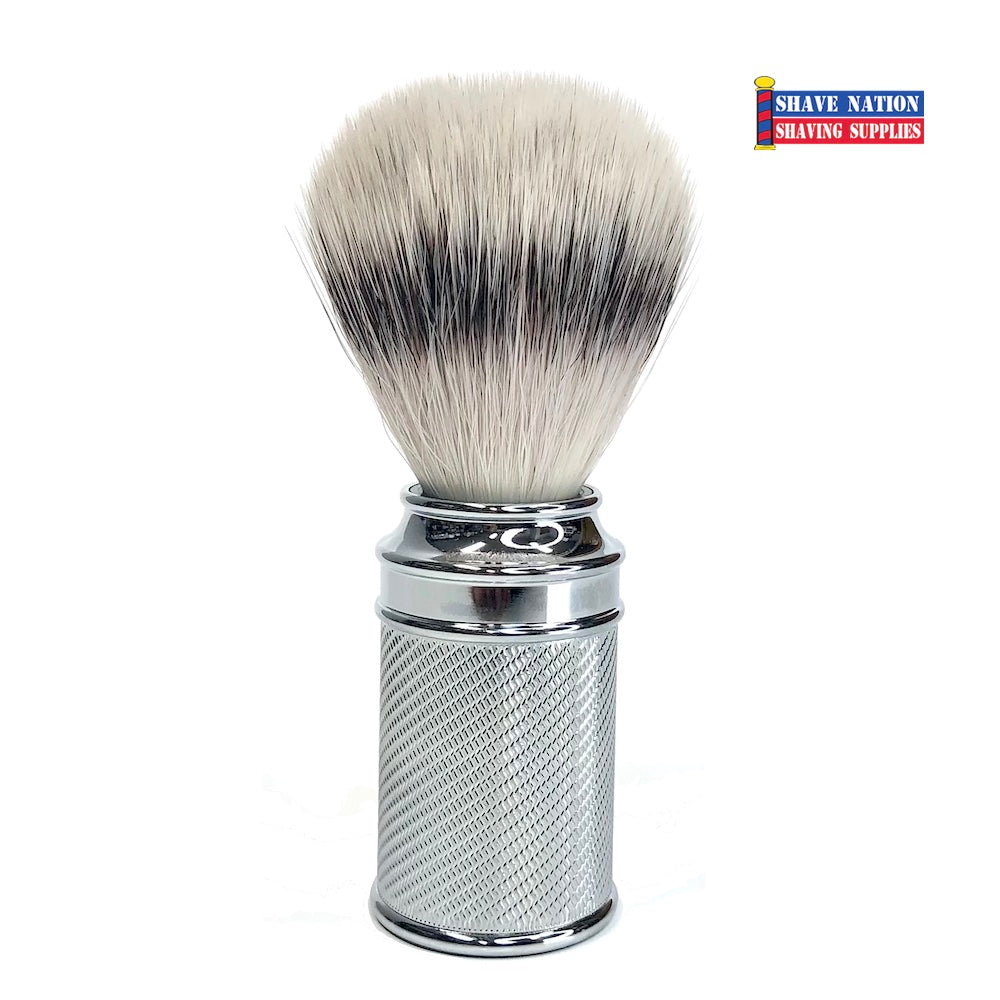 Muhle Synthetic Silvertip Brush with Chrome Handle