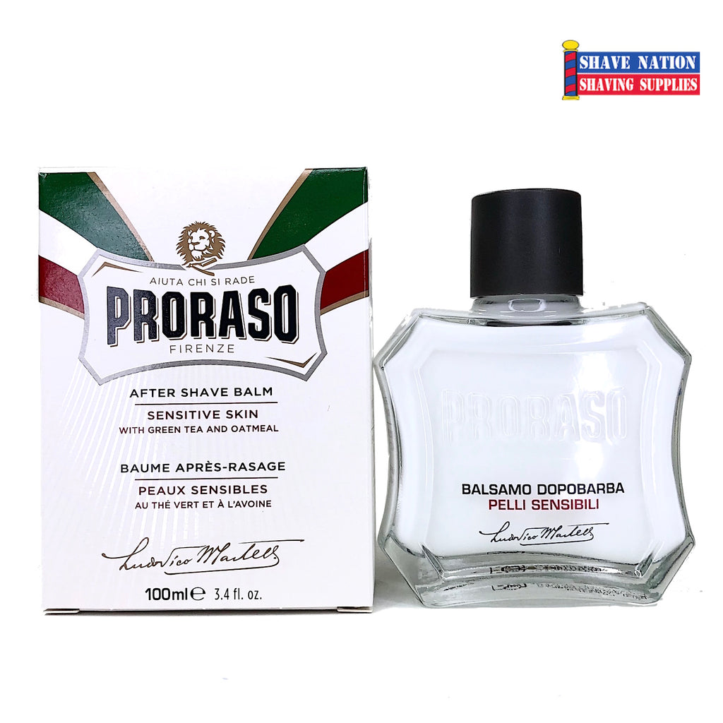 Proraso Aftershave Balm for Sensitive Skin New Bottle!