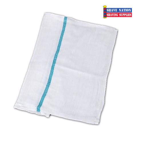 Green Stripe Barber Towel