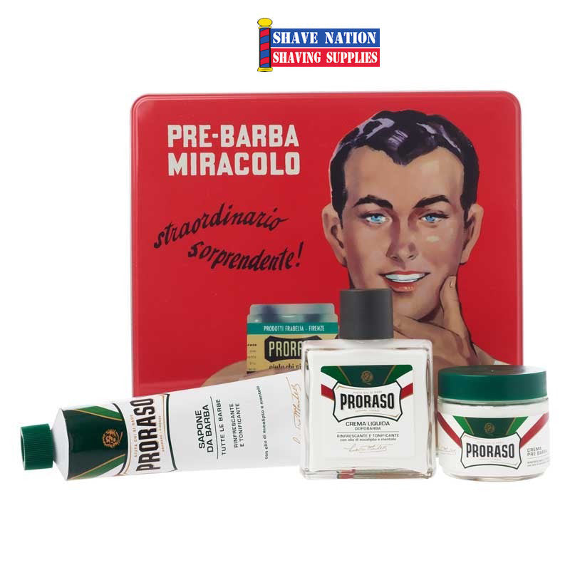 Proraso Vintage Tin Shaving Set-Refresh The Skin Formula