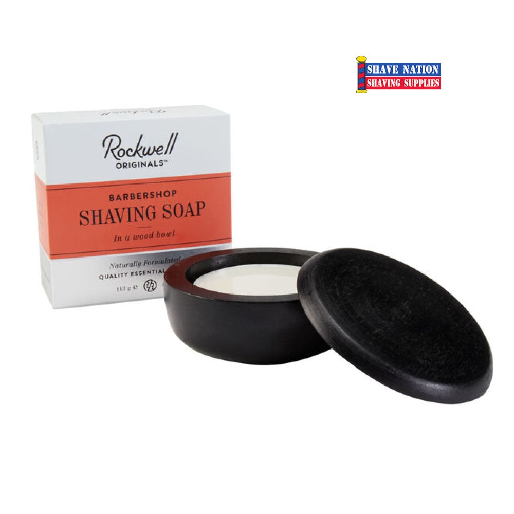 Rockwell Shaving Soap in Wood Bowl BARBERSHOP