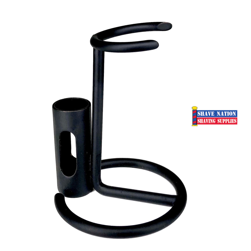 Shave Nation Razor & Brush Stand-Black