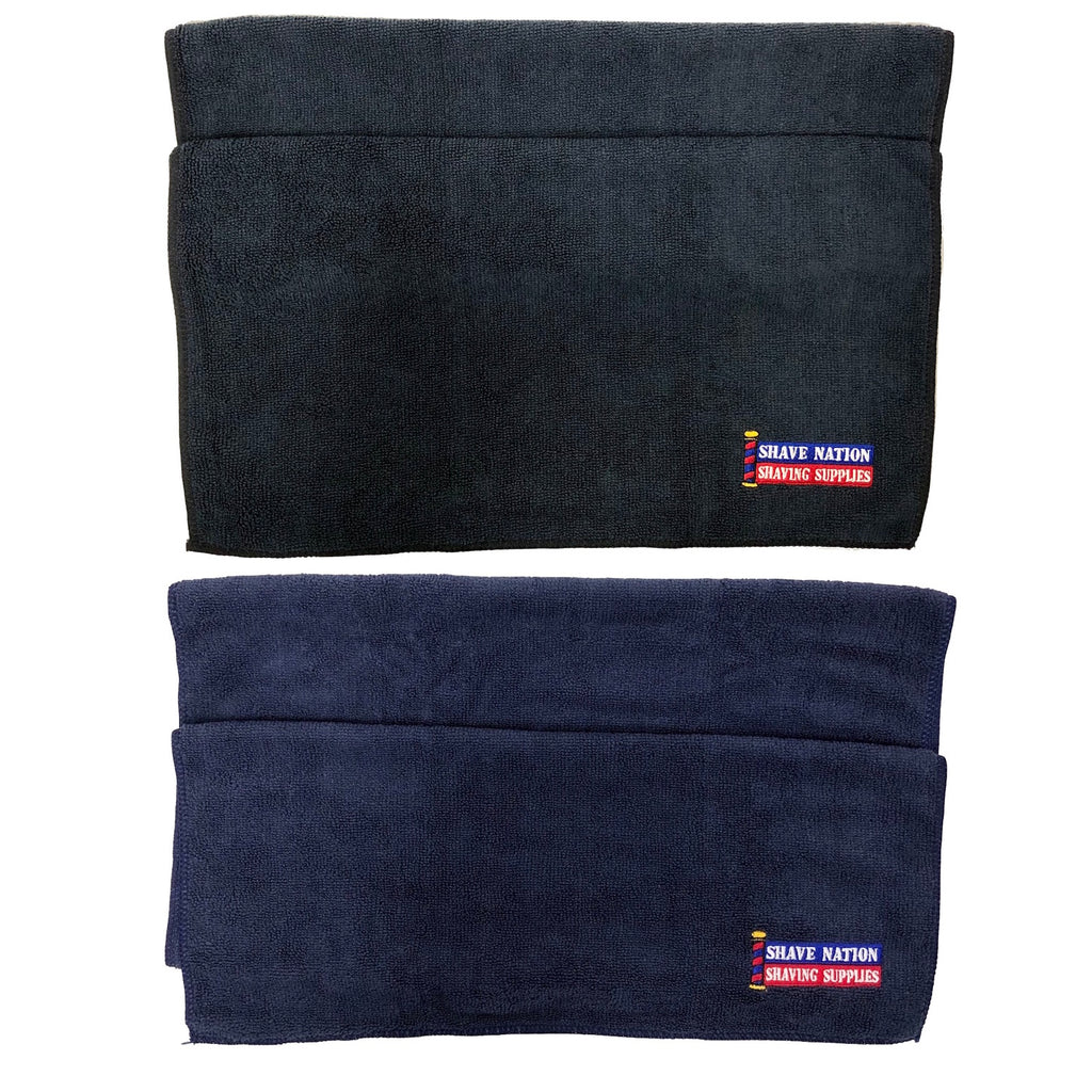 Shave Nation Microfiber Towel-Blue or Black