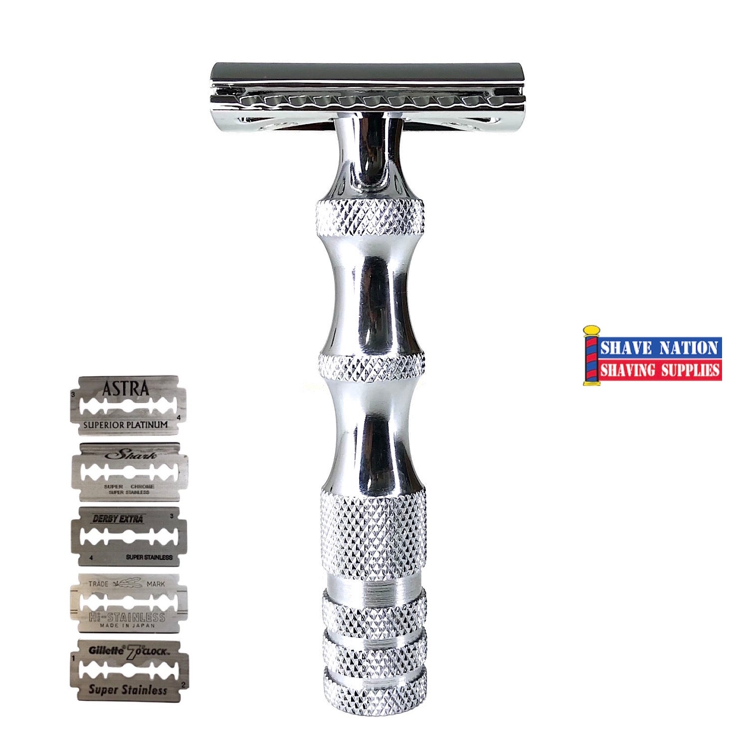 Shave Nation Curvy Closed Comb Safety Razor with Blades