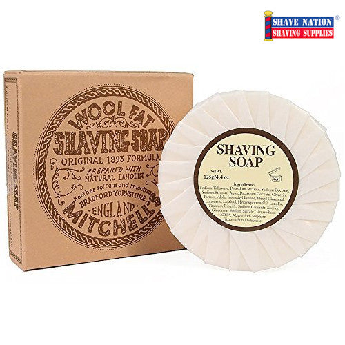 Mitchell's Original Wool Fat Shaving Soap Refill Puck
