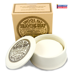 Mitchell's Original Wool Fat Shaving Soap in Ceramic Bowl