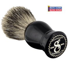 Suavecito Badger Brush Black Resin Handle