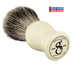 Suavecito Badger Brush Ivory Resin Handle