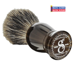Suavecito Badger Brush Mocha Resin Handle