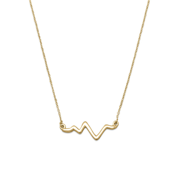 Heartbeat Necklace in 18 Kart Gold plated Silver