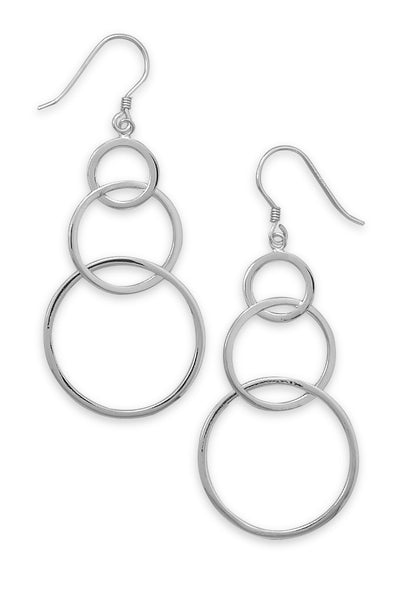 Graduated Circle Earrings