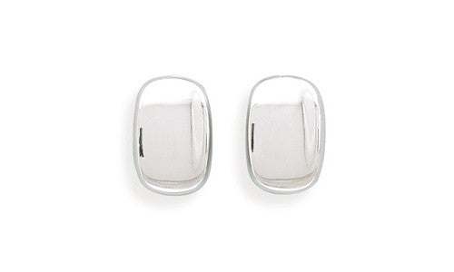 Rectangular Concave Clip-on Earrings