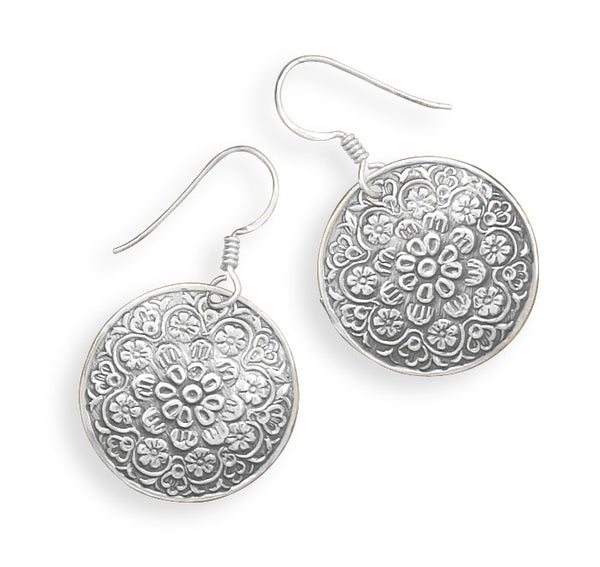 Floral Design Drop Earrings