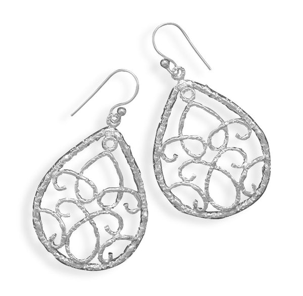 Pear Shaped Cut Out Wire Design Earrings