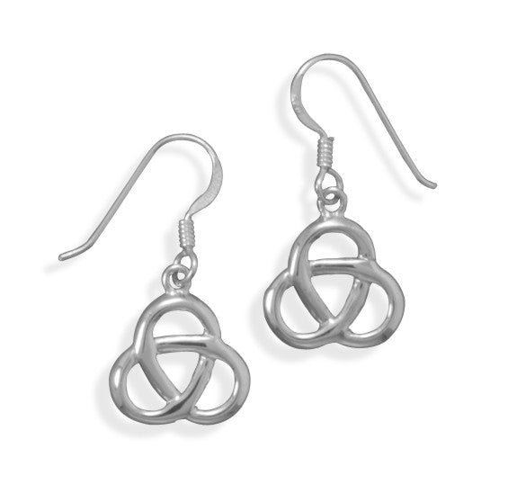 Trinity Knot Drop Earrings
