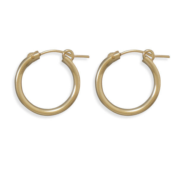 12/20 Gold Filled 2mm X 19mm Hoops