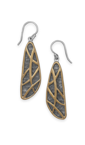Two Tone Abstract Earrings