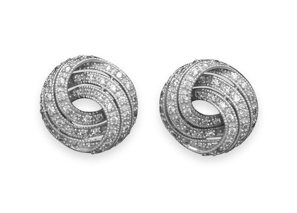 Cubic Zirconia Knot Earrings