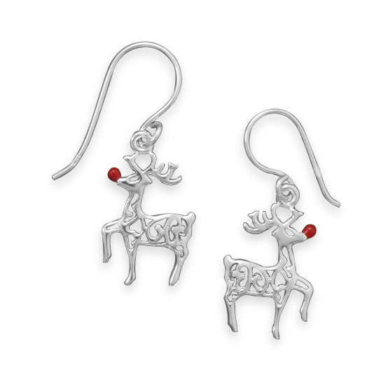 Red-nosed Reindeer Earrings