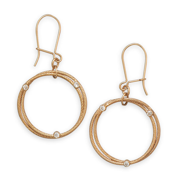 Golden Halo Earrings: Double Circle Design