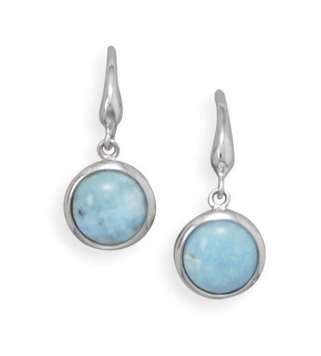 Genuine Larimar Drop Earrings