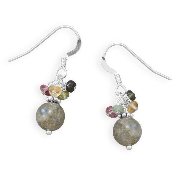 Baila Luna Colorful Tourmaline & Labradorite Bead Earrings