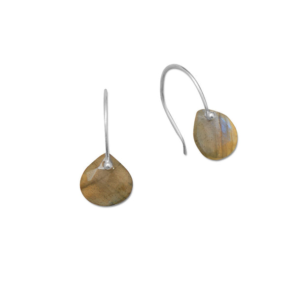 Faceted Pear Labradorite Earrings