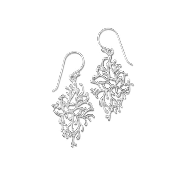 Polished Vine Design Earrings