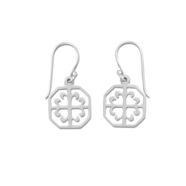 Ornate Octagon Earrings