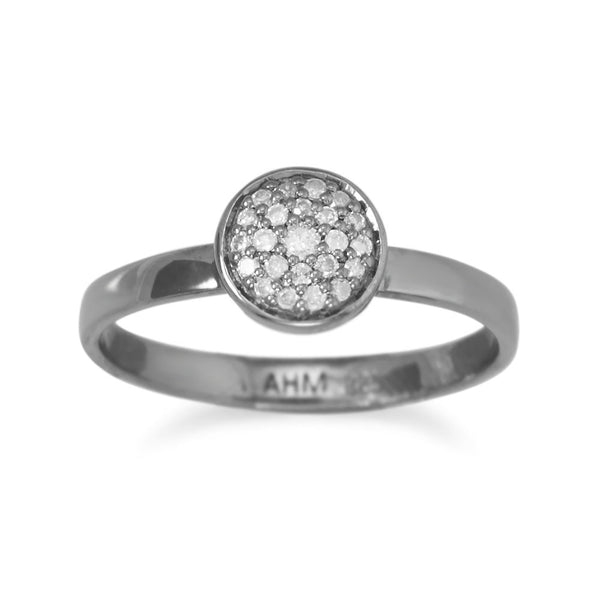 Pave Grey Diamond Ring